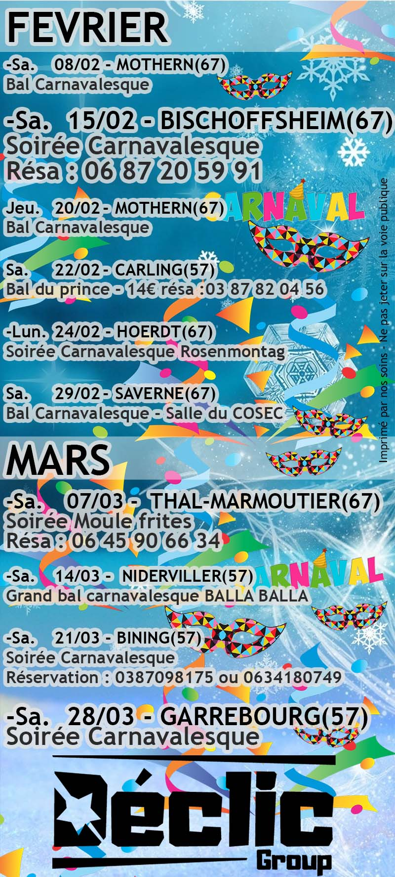 Saison Carnaval 2020